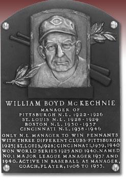 McKechnie Hall of Fame