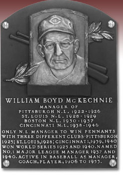 McKechnie Hall of Fame